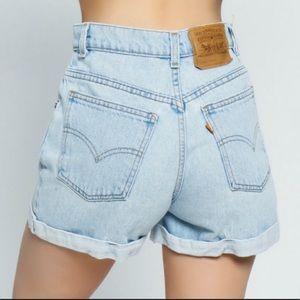 Vintage High Rise Orange Tab Levi's Denim Shorts